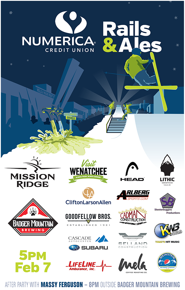 Numercia Credit Union Rails & Ales banner for the event