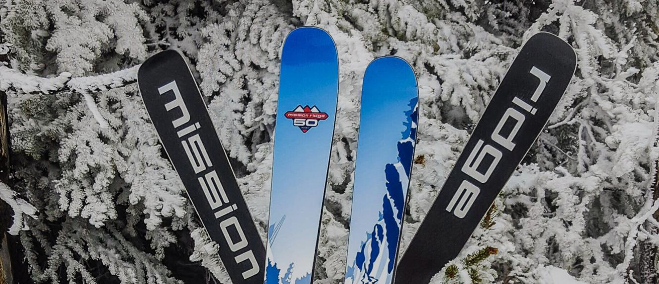 50th Anniversary skis with topsheet and bases showing