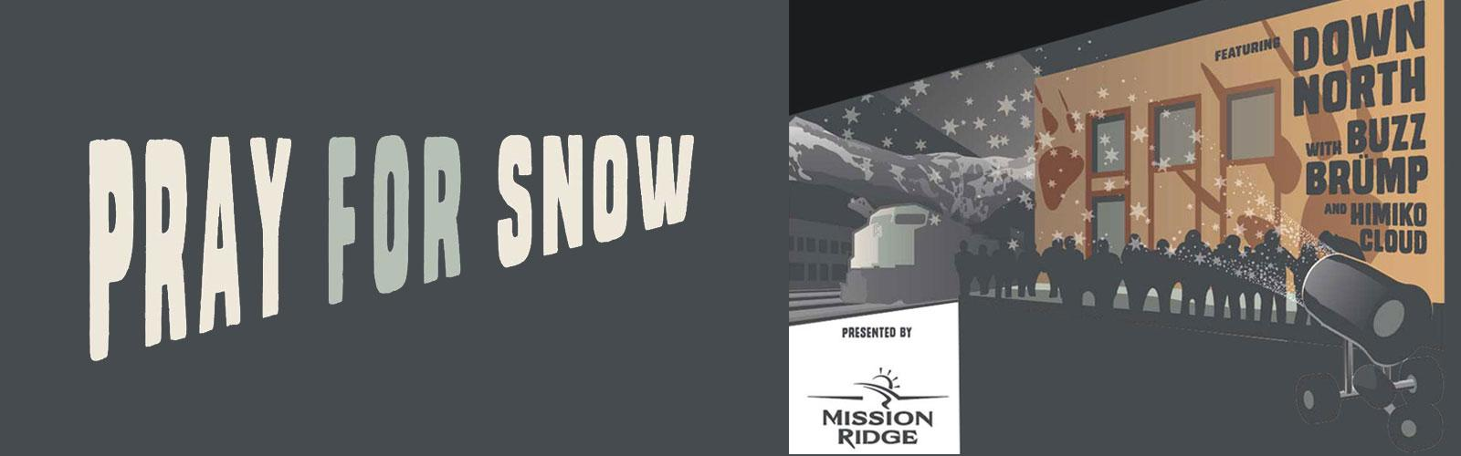 Pray For Snow Flyer with Band names