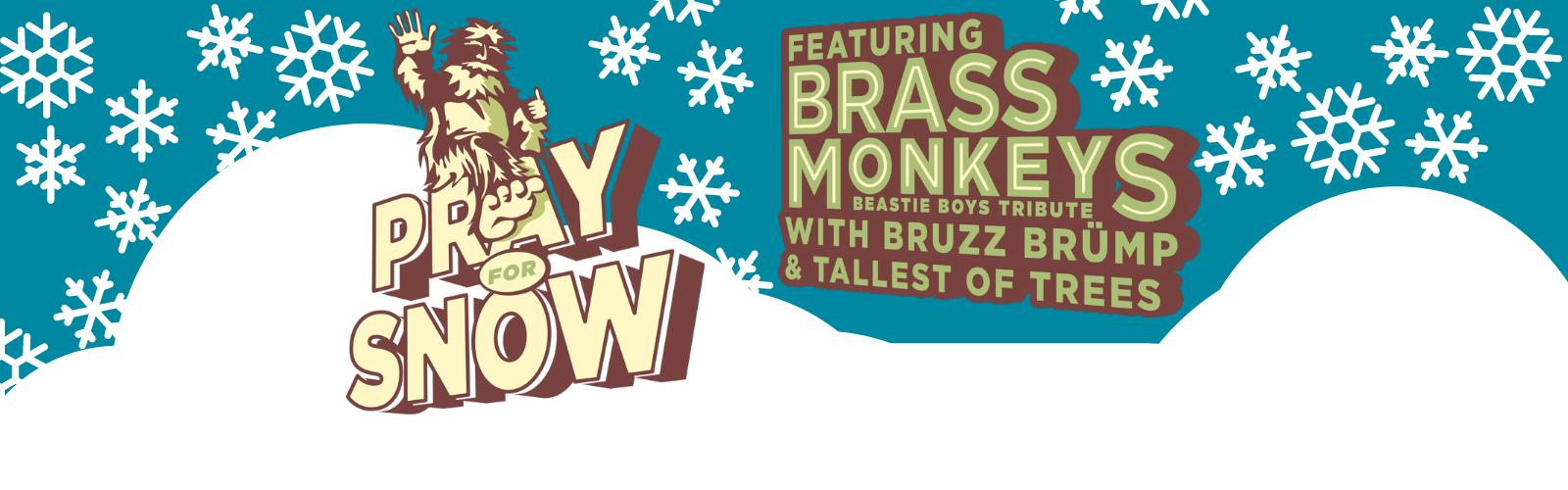 Pray for Snow Logo with the bands who will be playing the concert