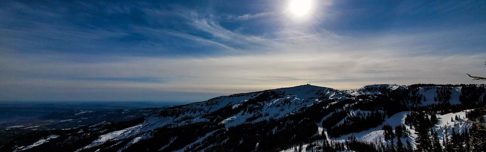 View of Windy Ride, Microwave, and Bowl Four with the sun above