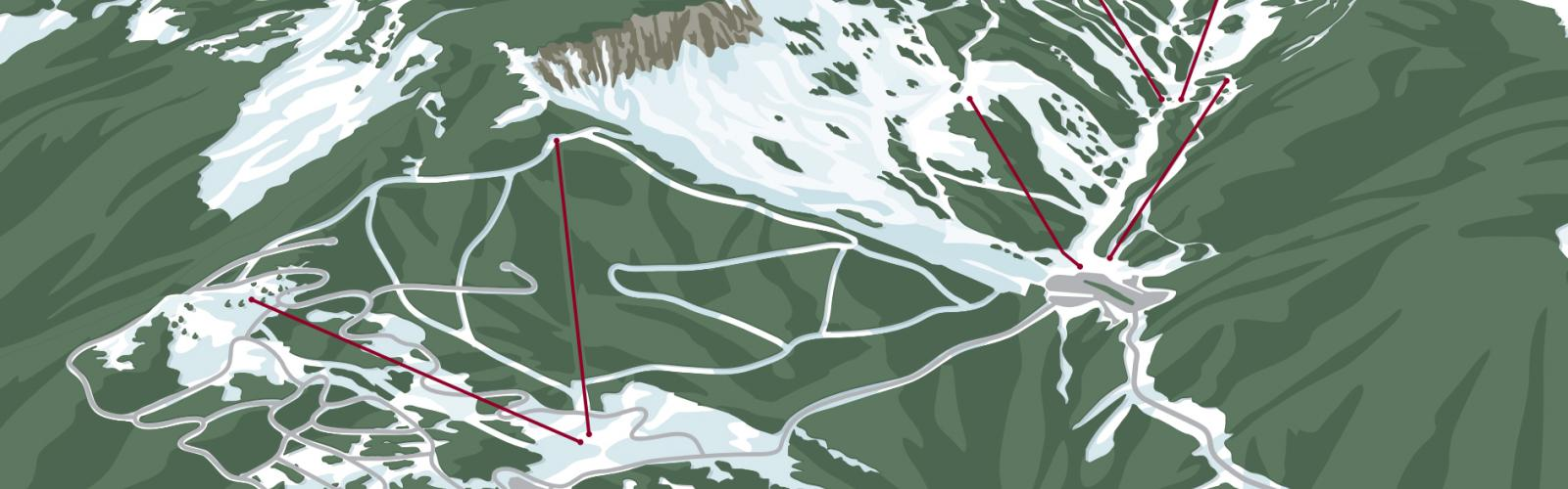 Artist rendering of expansion plan showing chairlift locations.