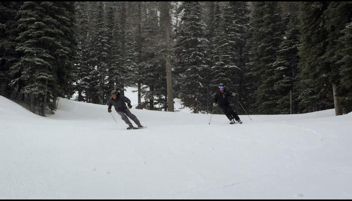 go skiing with your friends
