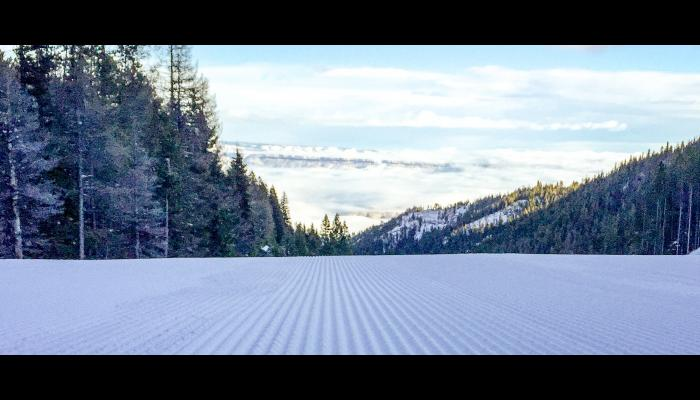 fresh corduroy and a view of the Wenatchee valley