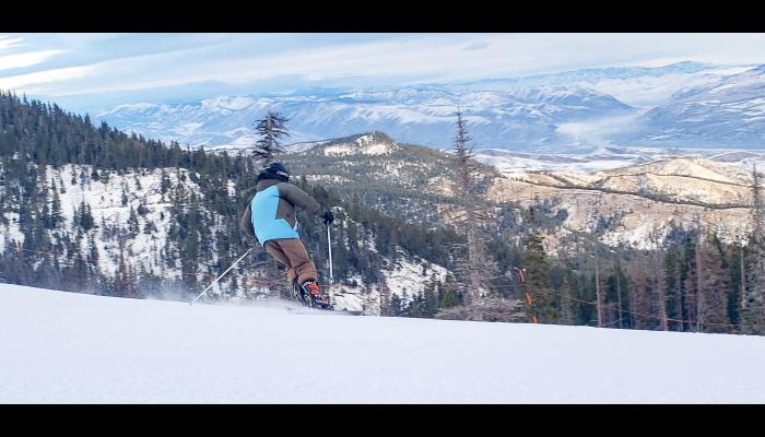 Skier's Back Valley View With Columbia River in Background