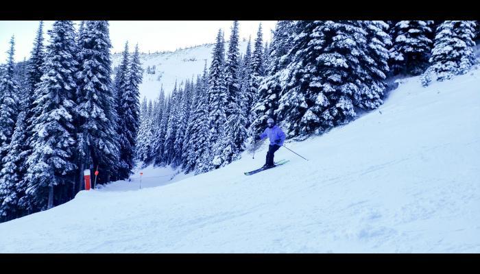Skier On Kiwa making a turn